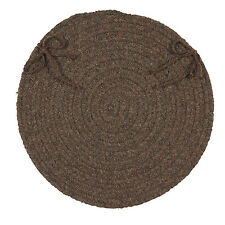 Colonial Mills Bristol Bark Braided Round Chair Pad with Ties