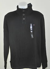 Tommy HOMME PULL NEUF 100% Coton NOIR 2014 COL BOUTON tailles M, XXL dispos