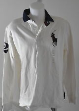2014 Chemise MARQUE RALPH LAUREN HOMME POLO NEUF CUSTOM FIT M, L BLANC BIGPONY