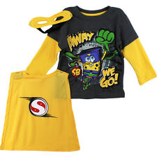 SpongeBob Squarepants Boys T-Shirt, Mask, & Cape Costume Set 8S6302 2T 3T 4T