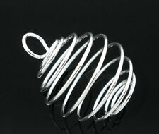 Wholesale Market Silver Plated Spiral Bead Cages Pendants 29x24mm