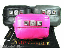 New Juicy Couture Bella Leather Clutch Evening Bag Purse Handbag NWT$198