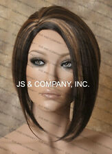 Salon Cut Asymmetrical Posh Short Bob Side skin Wig CHOOSE YOUR COLOR!