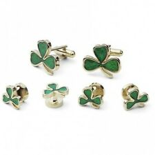 Shamrock Tuxedo Studs and Cufflinks Set
