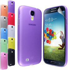 SLIM FIT PLASTIC PC SKIN CASE COVER FOR SAMSUNG GALAXY S4 IV i9500 + SCREEN FILM