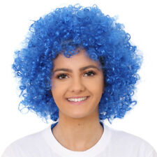 ADULTS BLUE AFRO WIG 60'S 70'S DISCO FANCY DRESS STAG PARTY CLOWN SCOTTISH