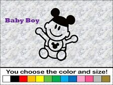 Disney Baby Boy Son Family Sticker Vinyl Decal Car Stick People Mickey Ear