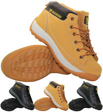 MENS WORK SAFETY SHOES LEATHER LADIES BOOTS STEEL TOE CAP ANKLE SHOES TRAINERS
