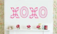 XOXO Valentines Gift Decor Vinyl Wall Decals Sticker Words Letters Love Kisses