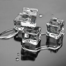 12 Counts/dozen Translucent Artificial Acrylic Ice Cubes Clear 3/4 Inch Square