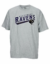 Reebok Mens NFL Football Baltimore Ravens Short Sleeve Shirt Top, Grey