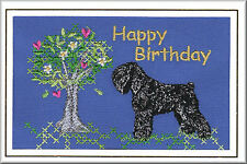 Russian Black Terrier Birthday Card Embroidered by Dogmania
