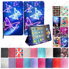 FOR APPLE IPAD 2 / 3 / 4 STYLISH PRINT LEATHER MAGNETIC FLIP CASE COVER+STYLUS