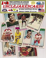 1976-77 OPC MINNESOTA NORTH STARS Select from LIST SEE SCAN HOCKEY  O-PEE-CHEE