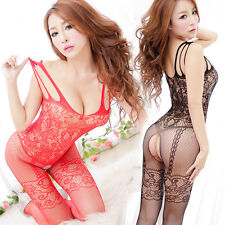 Hot Valentine's day Lingerie Sexy Women Open Crotch Tight Pantyhose BodyStocking