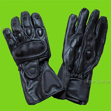 NEW MOTORCYCLE LEATHER RACE GLOVES VENT CARBON PROTECTIVE RIDING RACING - K1J