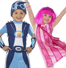 Lazy Town Kids Fancy Dress Sportacus Stephanie TV Boys Girls Costume Outfit 3-9