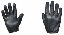 black gloves deluxe leather cut resistant tactical police glove rothco 3452