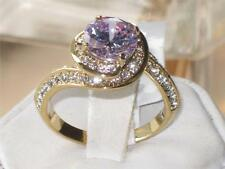 GL316PB AMETHYST FANCY   SIMULATED DIAMOND WOMENS 18KT ION PVD GOLD LASTING