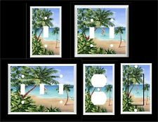 PALM TREE TROPICAL BEACH  # 10  HOME DECOR LIGHT SWITCH COVER PLATE OR OUTLET