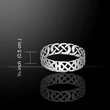 Irish Inspred Beautiful CELTIC KNOTWORK Silver Ring - Size Selectable