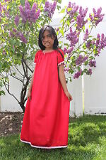 Girls Tricot Nightgown * Short Sleeves * No Ruffle