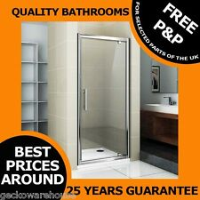 760 Pivot Shower Door, Side Panel,Stone Low Profile Tray Enclosure Cubical H1850