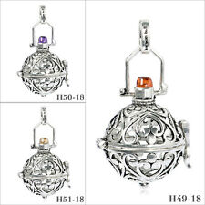 Sterling Silver Wish Locket Pendant Harmony ball Chime Bell Mexican Baby Bell