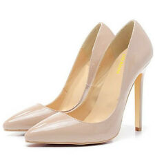 Nude Wedding Work Party Prom Dress High Heels Pointed Corset Pumps Shoes US4-11