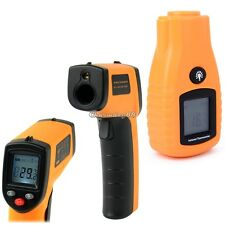 Digital Temperature Thermometer Non-Contact IR Infrared Laser Point New Good UK