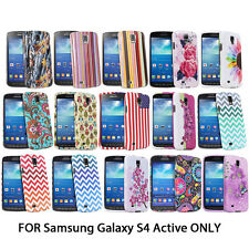 For Samsung Galaxy S4 Active i537 ONLY Slim Rubber Design Snap On Cover Case