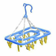 Hanging Hang Up Clothes Underwear Sock Camping Indoor Dryer Airer Pegs Rack
