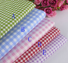 """19""""x20""""(48cm*52cm)Pink/Blue/Green/purple/red Gingham Checked Fabric Bedding set"""