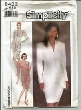 New Uncut Simplicity 8433 Womens SKIRT JACKET Fitted SUIT Size 6 - 12 Vintage