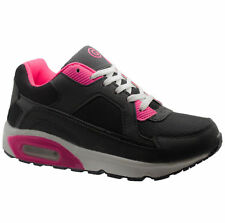 GIRLS BLACK GLENSDALE SCHOOL KIDS SKATE BOOTS TRAINERS BOYS SCHOOL SHOES SIZES