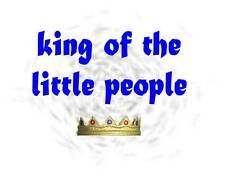 Custom Made T Shirt King Of The Little People Infant Toddler Crown Cute Kids