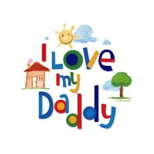 I LOVE MY DADDY EDIBLE IMAGE CAKE TOPPER! CUPCAKES! COOKIES! FREE SHIPPING!