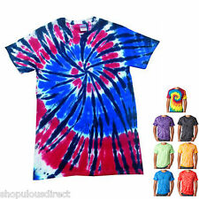 Kids TIE DYE T Shirt Galaxy Retro Tee Vintage Bright Skater Hippie Swirl Rainbow