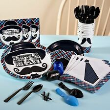 LITTLE MAN MUSTACHE HAT TIE BOYS BIRTHDAY PARTY PACK BALLOONS DECORATIONS NEW