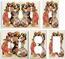 AFRICAN LADIES DRESSES DANCE  IMAGE #2  LIGHT SWITCH COVER PLATE U PICK SIZE