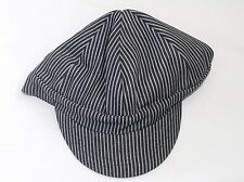 Mens Welder Engineer Rail Road Hat / Cap Striped - Blue & White