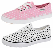 DUNLOP PLIMSOLES PLIMSOLLS PUMPS SHOES TRAINERS CANVAS WOMENS GIRLS LADIES SIZE