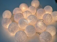 CP 20 35 COTTON BALL STRING PARTY,DECOR,BILLG,WEDDING HAPPY LIGHTS HANDMADE LAMP