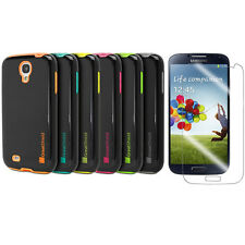 5 Colors Dual Layer Hybrid Hard Case Cover for Samsung Galaxy S IV S4 i9500+Film