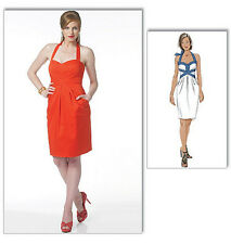 SEWING PATTERN Butterick B5599 Misses Suzi Chin Designer HALTER TOP MINI DRESSES