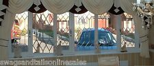 "LUXURY SWAGS AND TAILS +SHOW CURTAINS,FITS WINDOWS 131 to160"" (333-407cm) WIDE"