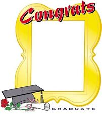 GRADUATION CLASSIC EDIBLE IMAGE FRAME CAKE DECORATION! TOPPER! FREE SHIPPING!