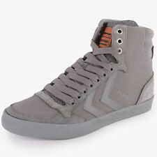 Hummel Slimmer Stadil Delux Hg 63-354 Unisex Trainers Grey New Shoes All Sizes