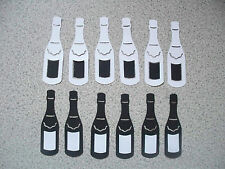 40 WINE CHAMPAIGNE GLASS BOTTLES TOPPERS CONFETTI TABLE DECORATION WEDDING