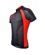 Funkier Gents Elite Short Sleeve Cycling Jersey - Carbon / Red - J763
